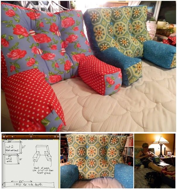 diy cozy backrest pillow with arms