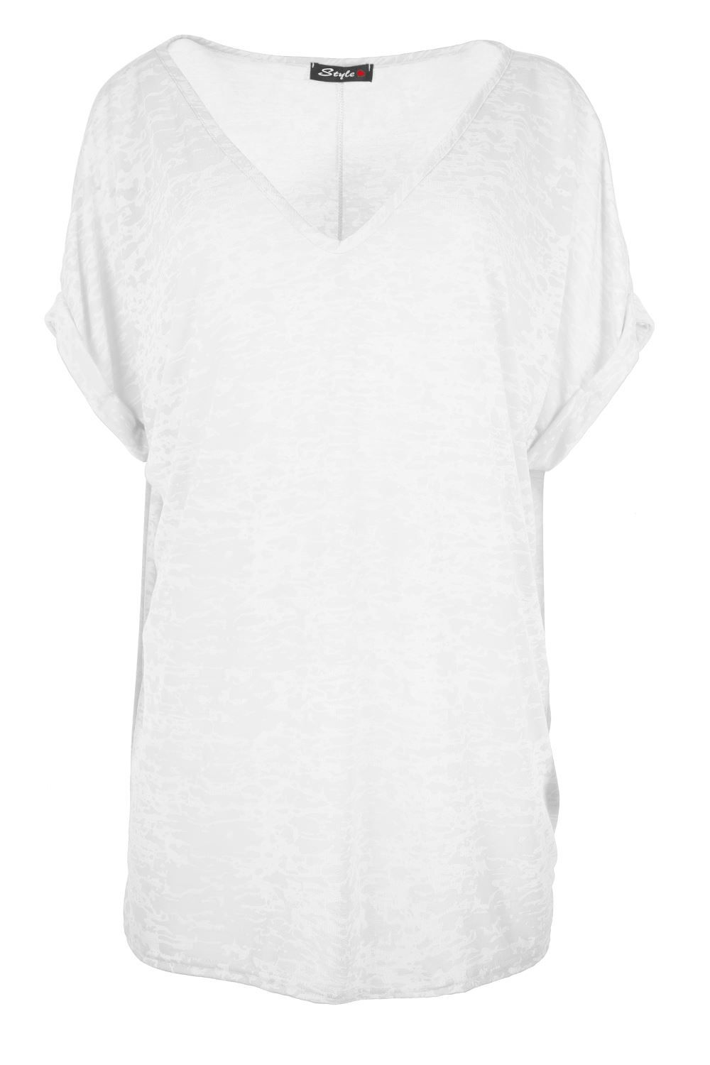 Women Oversized Baggy Loose Fit Turn up Batwing Sleeve Tunic Top T shirt UK