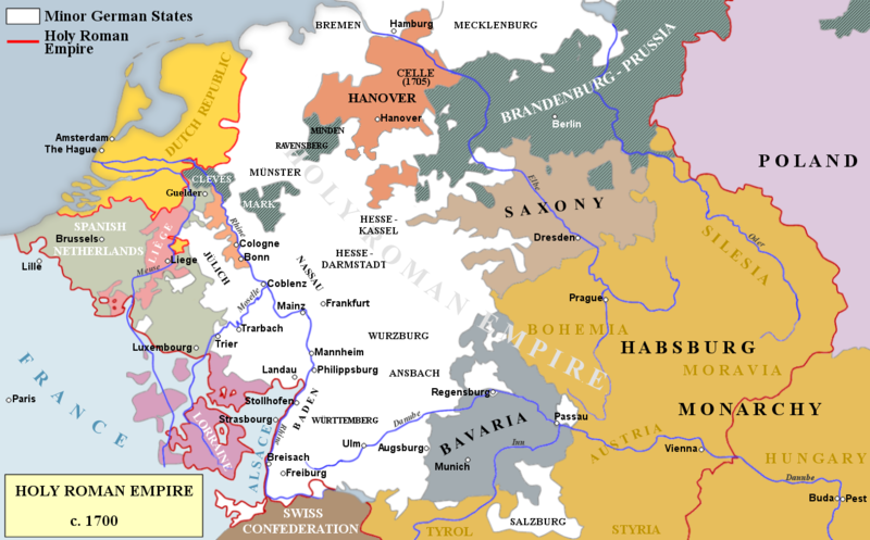 File:Holy Roman Empire c. 1700.png | World Maps | Pinterest | Holy ...
