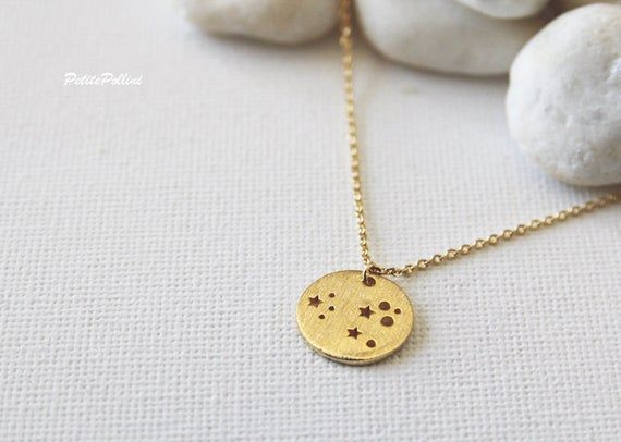 Space Necklace in Gold Silver Galaxy Necklace Planet Necklace Collarbone Necklace Layeri Space Necklace in Gold Silver Galaxy Necklace Planet Necklace Collarbone Necklace...