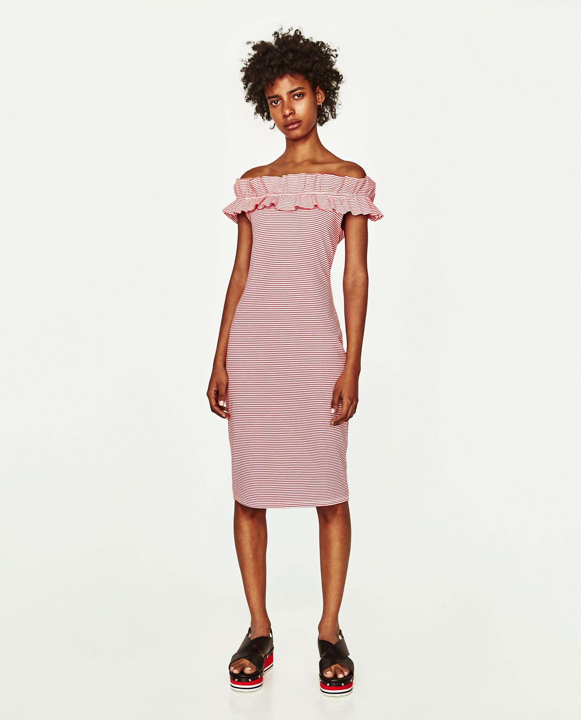 Image 2 of OFF-THE SHOULDER DRESS from Zara | Swipe swipe | Pinterest