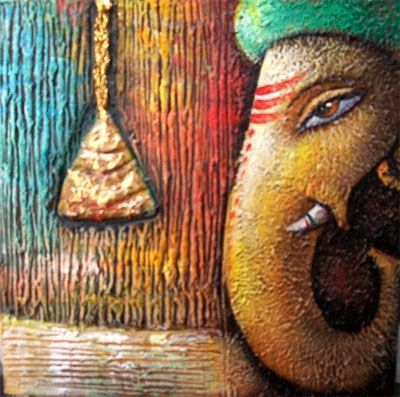 Ganesha Texture   ganesha   Ganesha painting, Lord ganesha