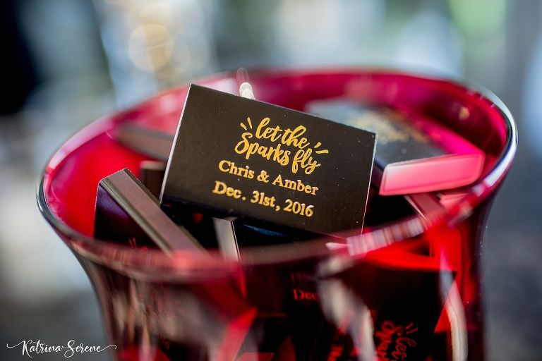 Custom Matches wedding favor | New Years Eve Wedding – Port Charlotte, FL