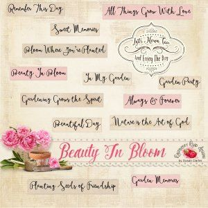 "Beauty In Bloom Word Art ✿ Join 7,700 others. Follow the Free Digital Scrapbook board for daily freebies. Visit GrannyEnchanted.Com for thousands of digital scrapbook freebies. ✿ ""Free Digital Scrapbook Board"" URL: https://www.pinterest.com/sherylcsjohnson/free-digital-scrapbook/"