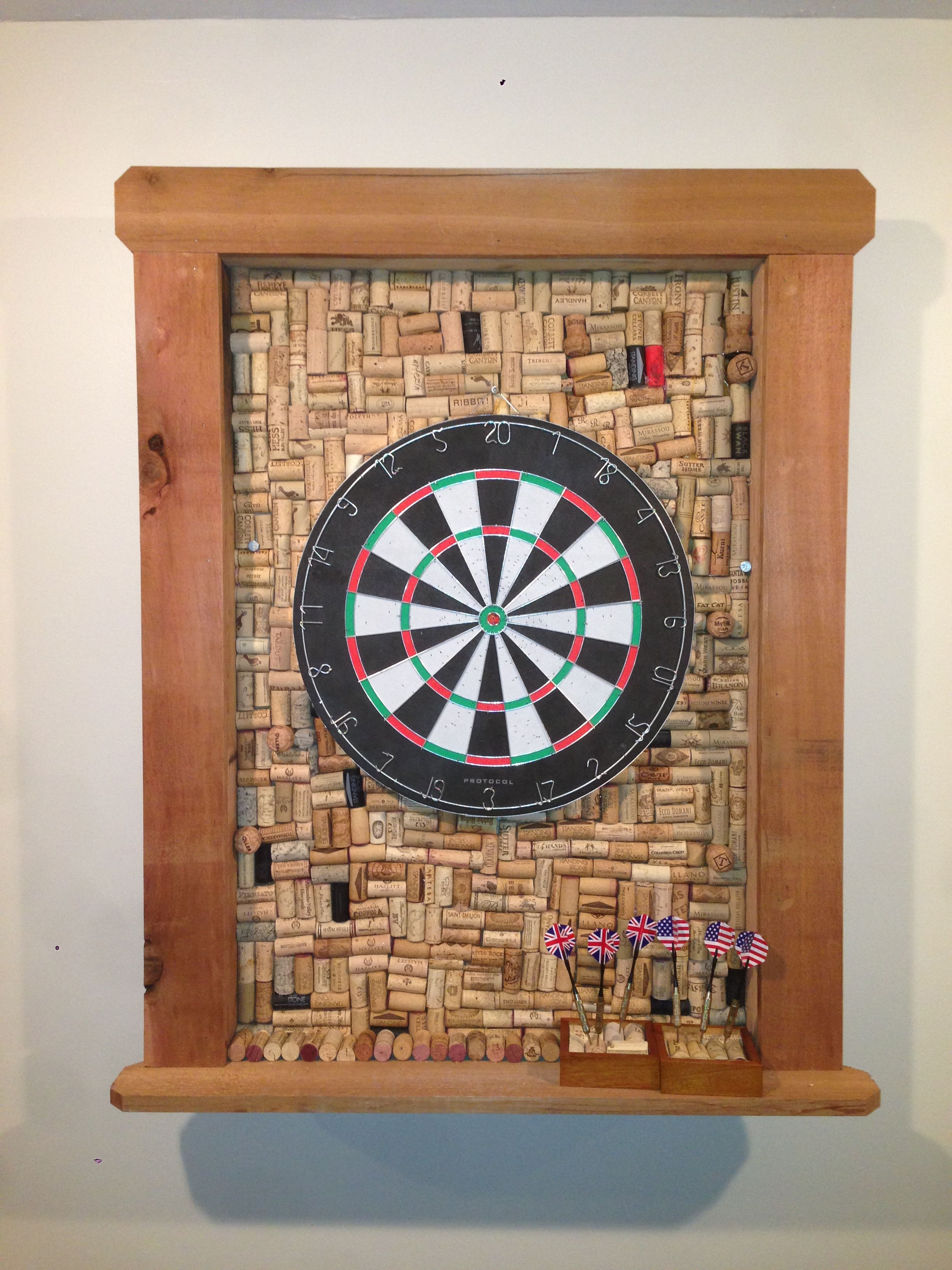 Dart Board Frame Made From Corks