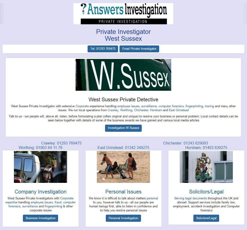 Private Investigator Answers Investigation Private