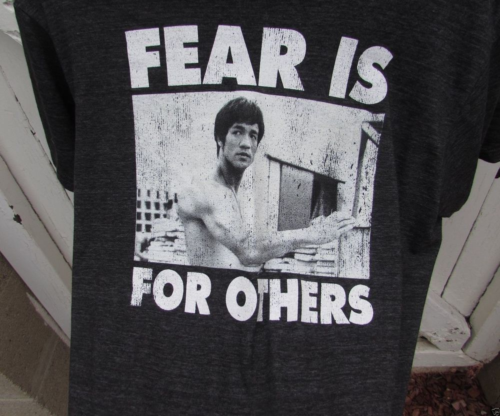 Bruce Lee T-Shirt, Men's Size Small, Medium 38-40 FEAR IS FOR OTHERS NEW DEAL #BruceLeeenterprises #GraphicTee