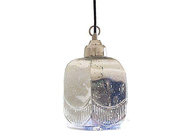 » Art Glass Hexagon Pendant Lamp