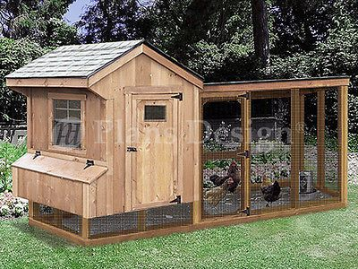 Chicken Coop Plans With Kennel 4 X 10 Saltbox Lean To Design