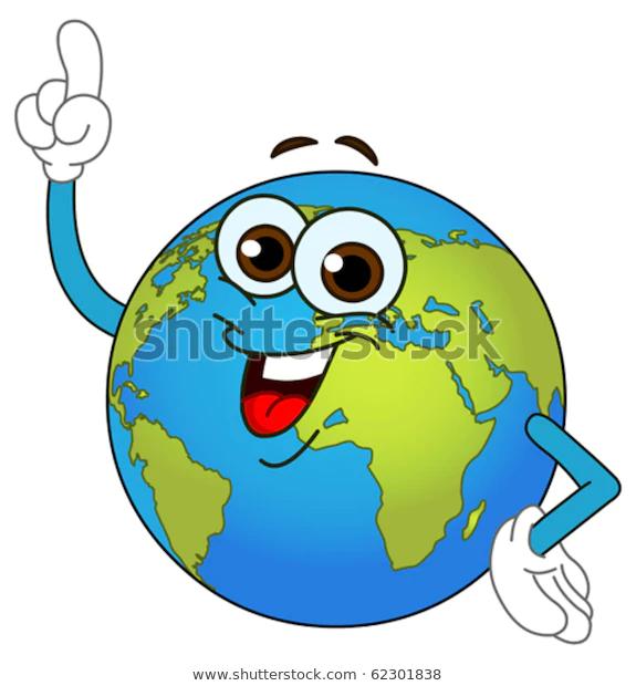 Cartoon World Globe Pointing His Finger Stock Vector Royalty Free 62301838 Cartoons Vector Cartoon Globe Cartoon World