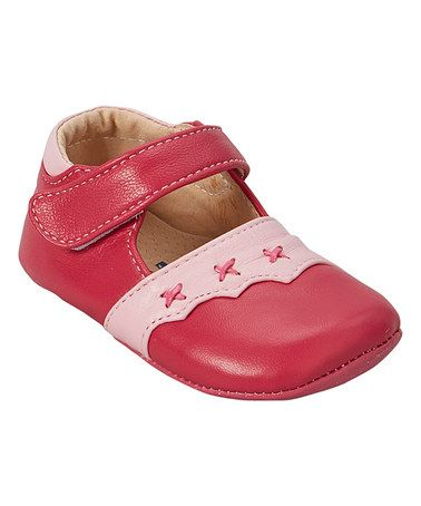 Loving this Pink Scalloped Leather Mary Jane on #zulily! #zulilyfinds