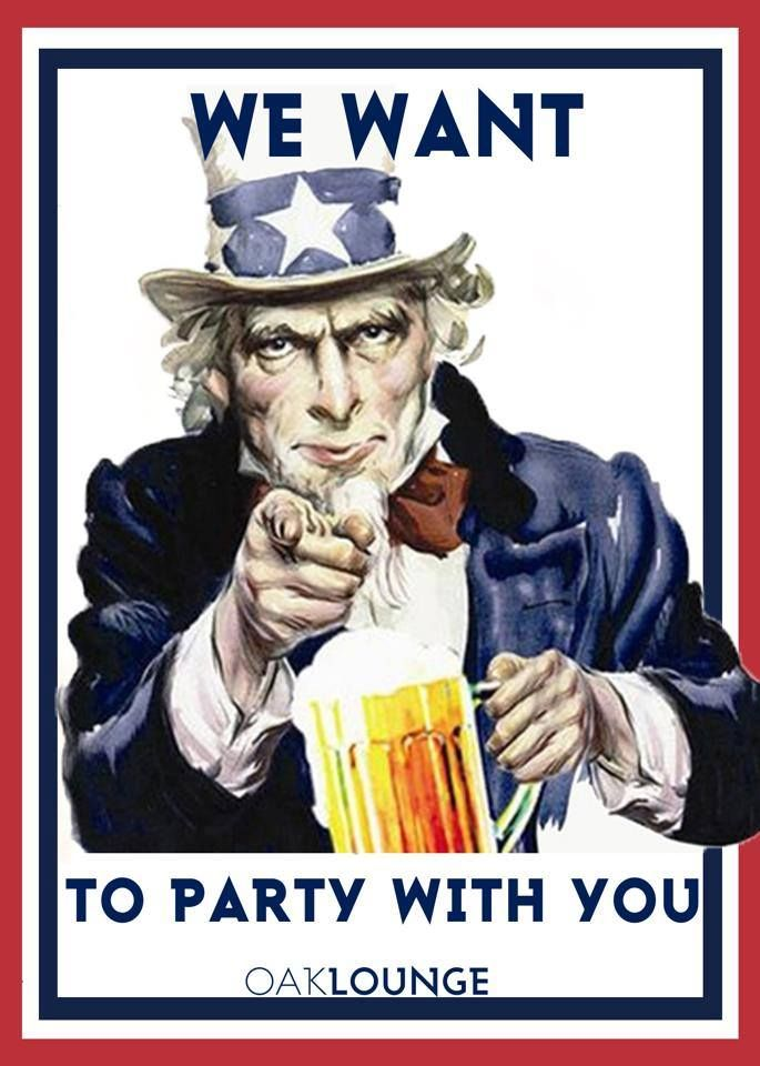 WE WANT TO PARTY WITH YOU EVERY TUESDAY NIGHT AT OAK LOUNGE MILWAUKEE! $1 BOMBS AND NO COVER | UNCLE SAM