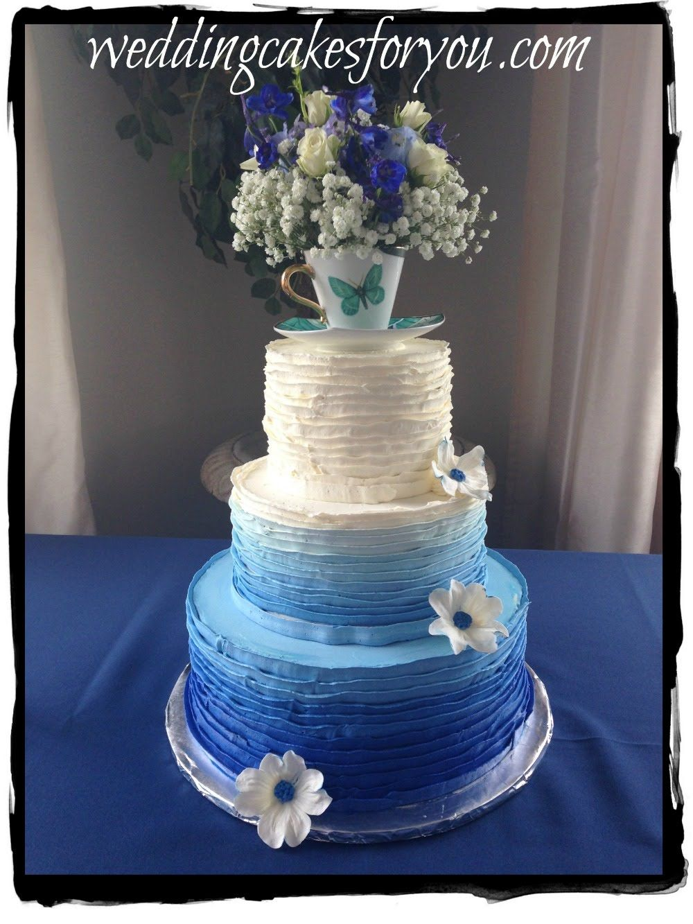learn how to make wedding cakes blue ombre cake wedding cake learn how to make delicious 16778