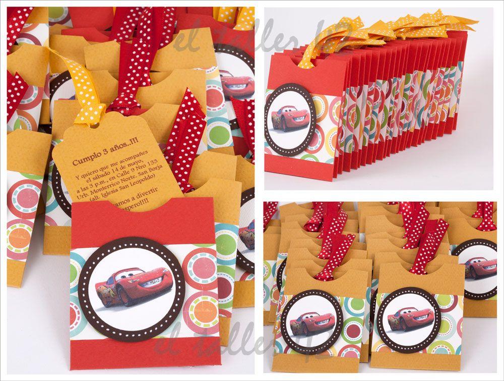 Tarjetas De Invitacion A Cumpleaños Cars Para Mandar Por
