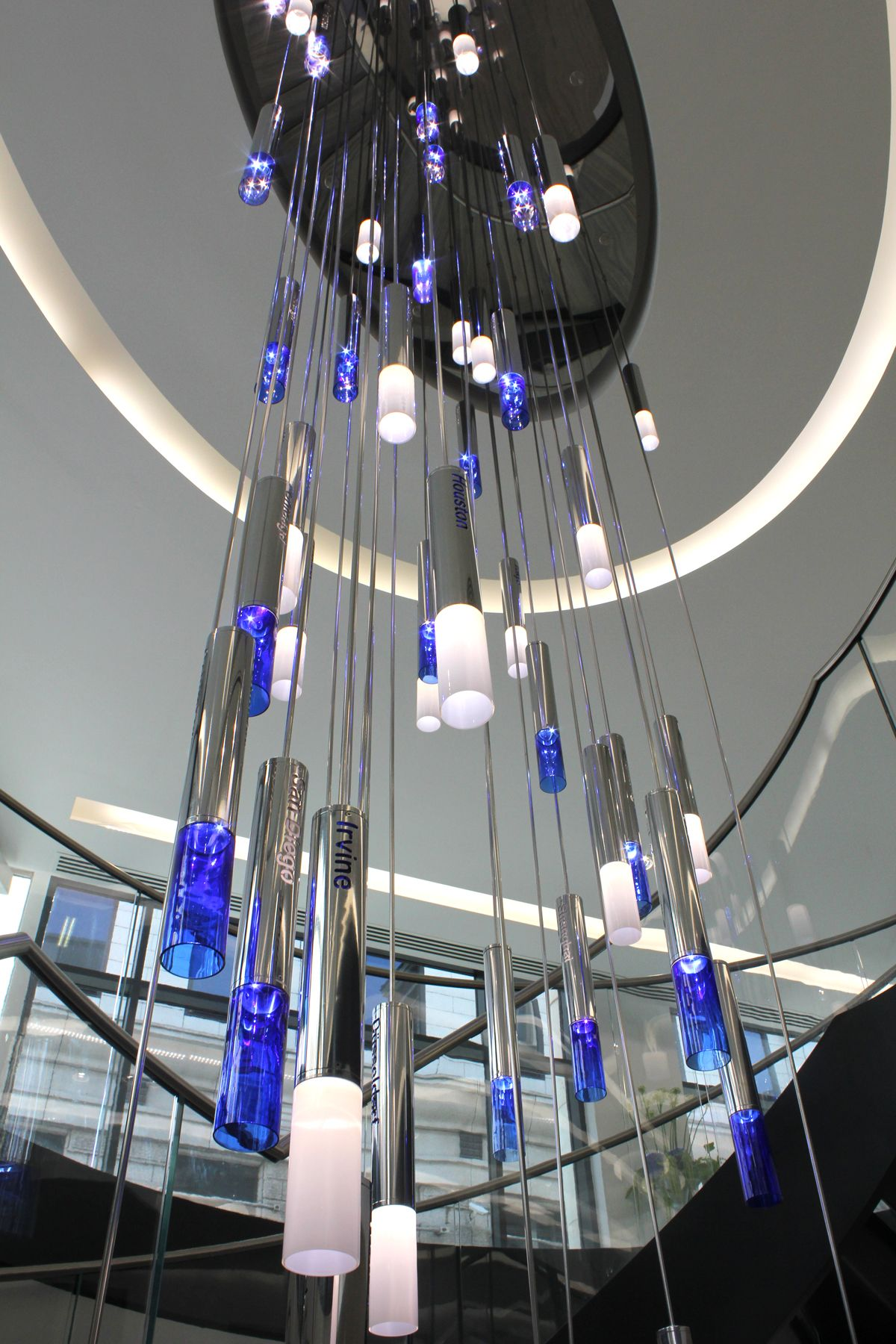 Bespoke Atrium Chandelier Jones Day London Commercial office