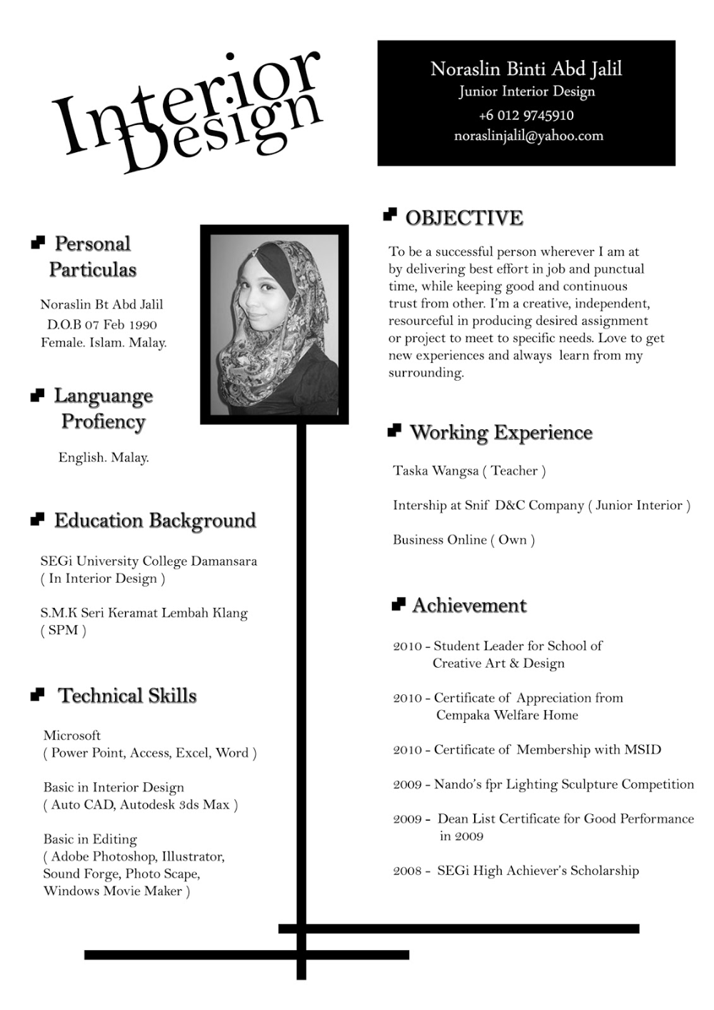 resume for interior designer in 2020 (With images