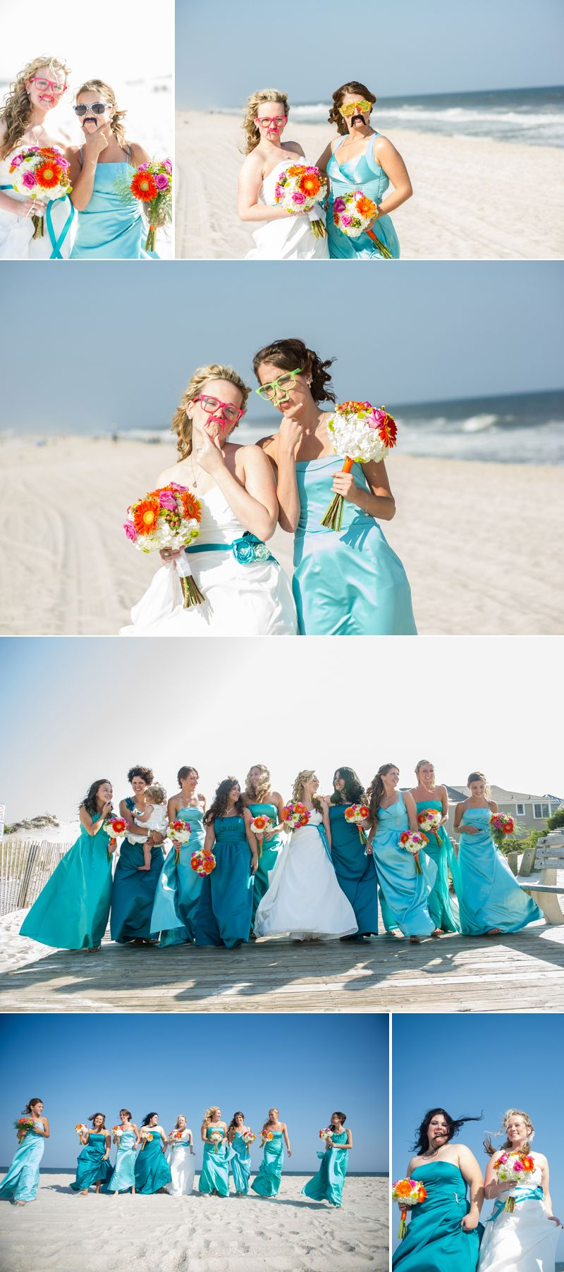 Love the variation of blues in the bmsu dresses and the colors