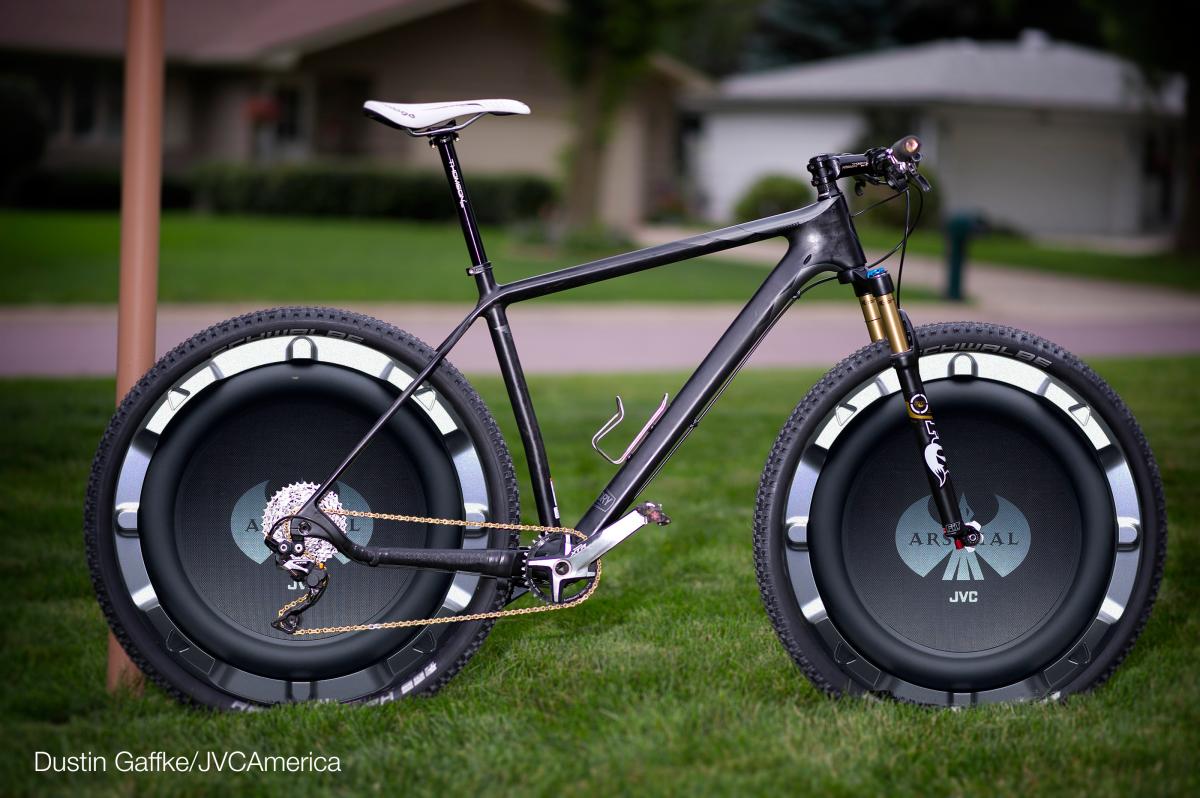 LOL............JVC America Announces Subwoofer MTB Wheels   Singletracks Mountain Bike News