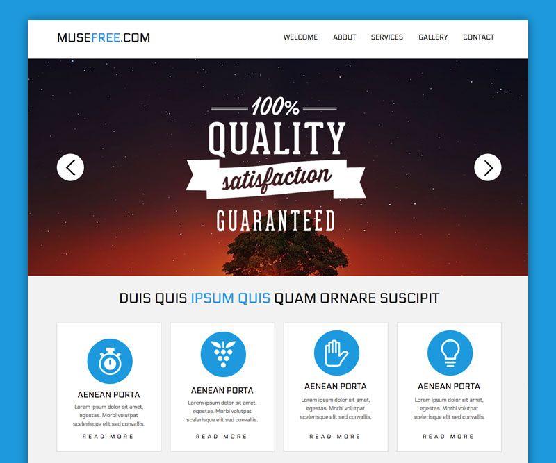 Download Landing Page | Adobe Muse Free Themes | Pinterest ...
