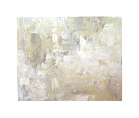Neutral Wall Art white abstract painting large acrylic wall art 24x30 cream tan