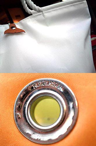 【Material】  ●Special Parts●     ☆Dimension - Polyant社 Sail Cloth  ミルクのような濃厚な色と厚めの最高の風合いが魅力。  ☆Rutgerson社 SWEDEN Eyelet    強度も見た目も上質のアイレット