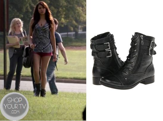 Shop Your Tv: The Vampire Diaries: Season 5 Episode 5 Elena's Black Combat  Boots
