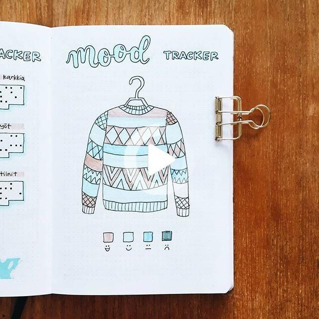 "Saara • bullet journal on Instagram: ""January's sweater mood tracker almost filled in ️ I really"