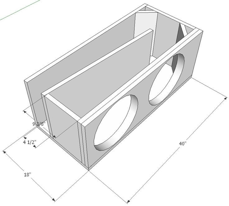 2 X Sundown Sa15 Tapered T Line Single Subwoofer Box Design Diy Subwoofer Box Diy Subwoofer
