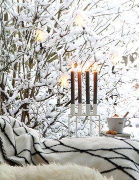Cosy Winter In The Living Room Grid Blanket From Bastisrike I Wohnzimmer  Dekorieren Einrichten: Gemütlich