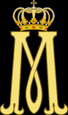 María de Sajonia-Coburgo-Gotha - nieta de la Reina Victoria y el Zar Nicolás de Rusia, luego María de Rumania.... Monograma real