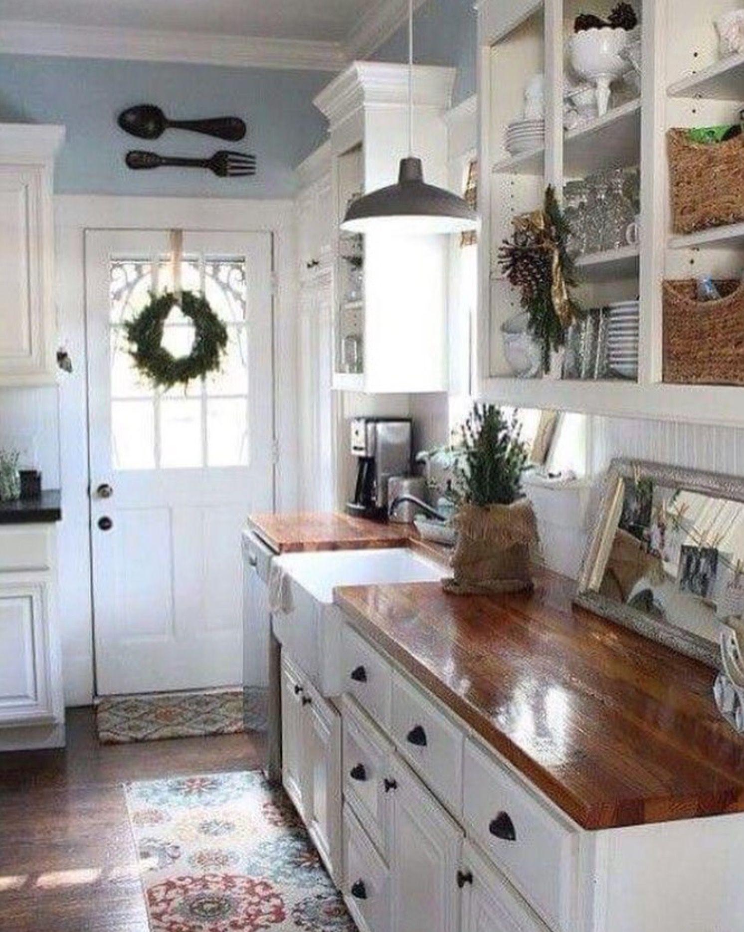 Küchendesign und fliesen counters  wohnen  pinterest  haus zuhause und landhaus
