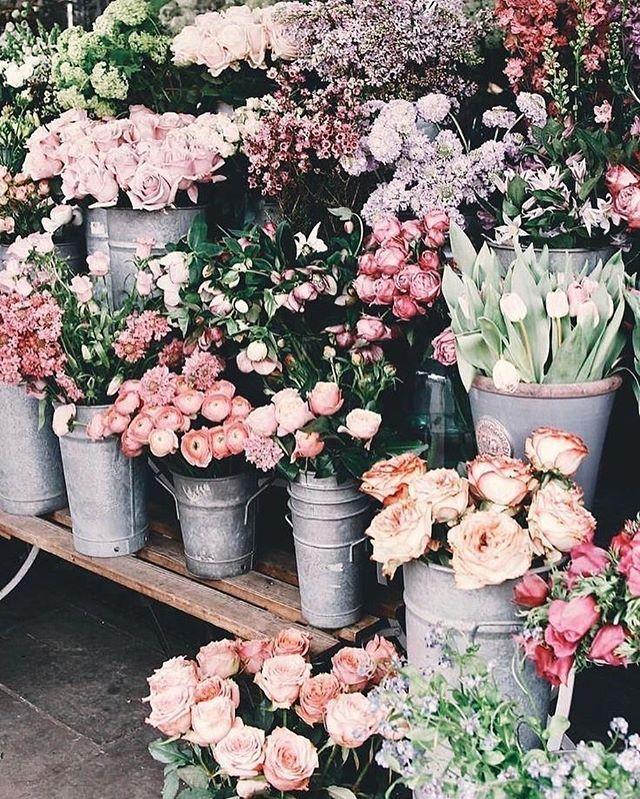 Flowers Displayed In Flower Market Flowers Inspired Inspirational Flowermarket Summer Flower Aesthetic Flower Market Pretty Flowers