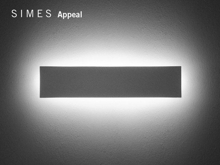 Applique a led in alluminio pressofuso appeal collezione appeal by