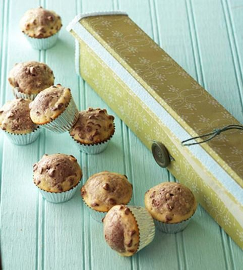 If you're a baker....  re-use your aluminum foil and wax paper boxes as gift boxes for cookies and muffins to give to loved ones.