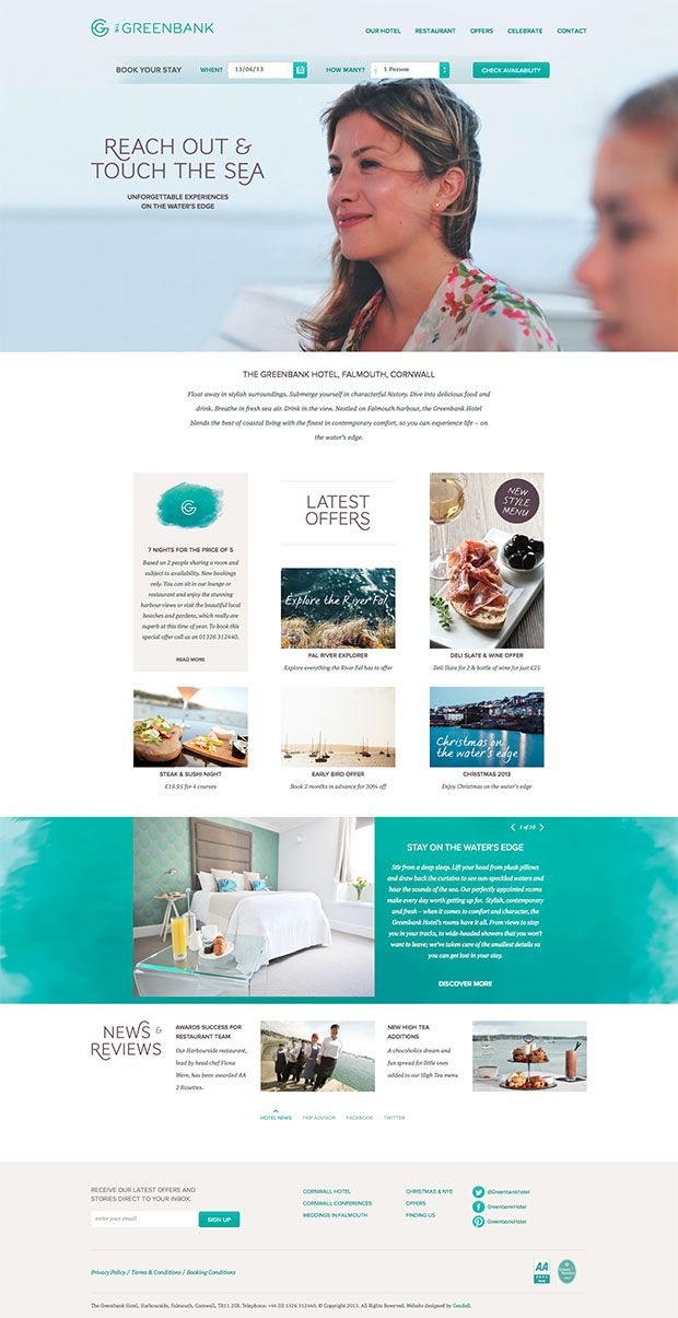 Greenbank Hotel Simple Website Design Greenbank Web Layout Design