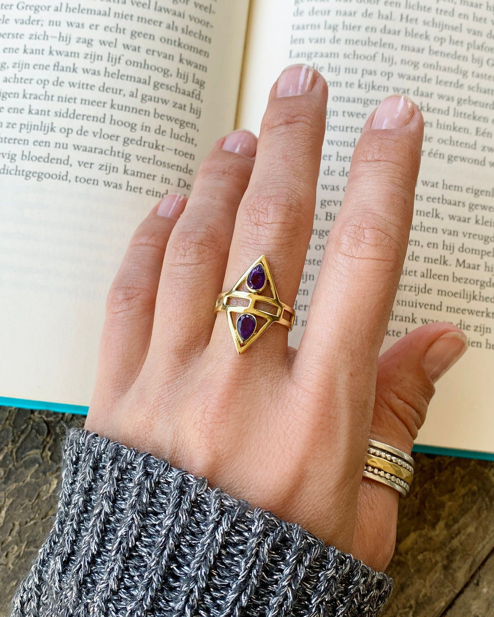 Sun Ring Brass Sun Ring Nature ring Gift woman Gypsy Style Stone Ring Adjustable Ring Ethnic Ring Woman gift