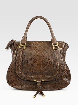 Chloé Marcie Large Python Shoulder Bag Give Me Strength Lord