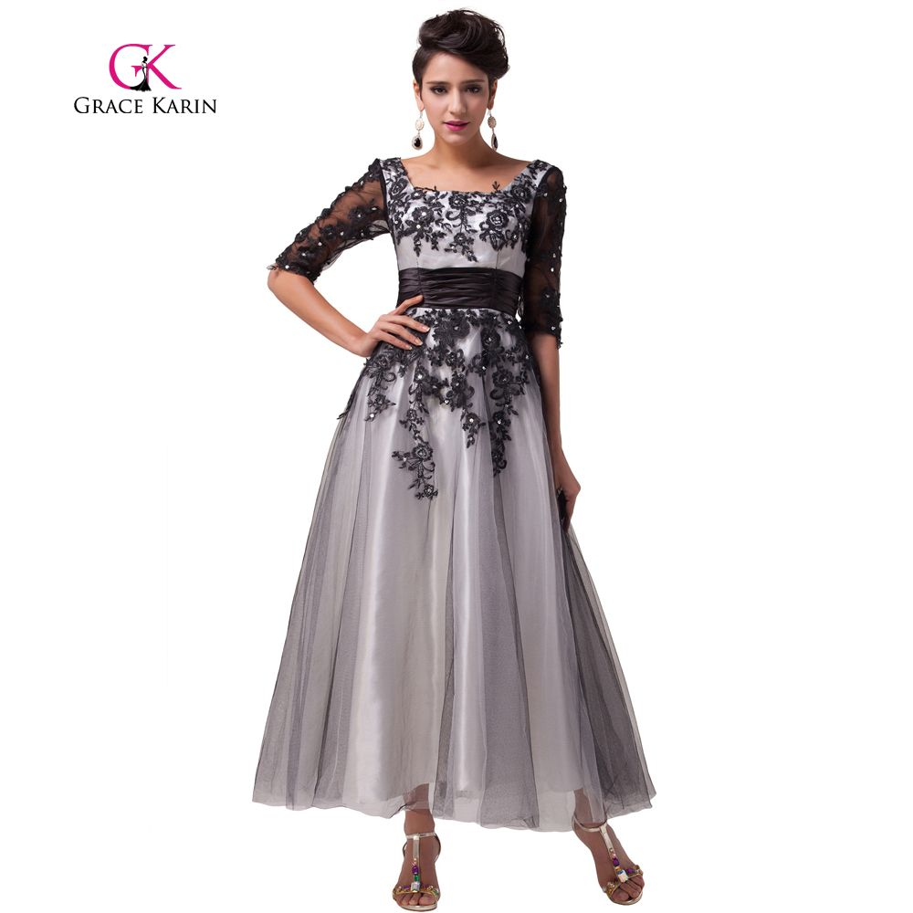 Grace karin popular ball gown elegant lace evening dresses long