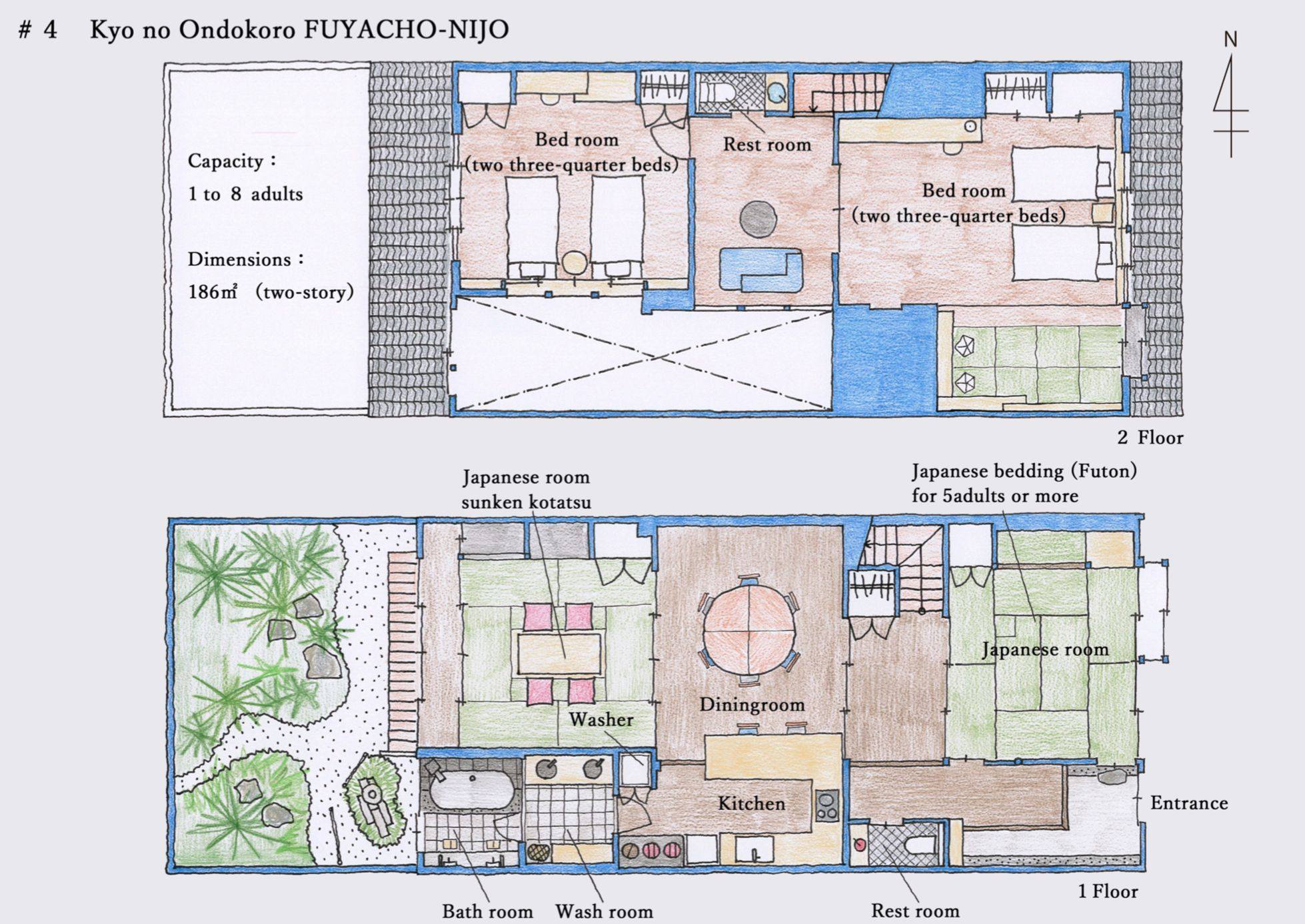Kyo No Ondokoro Fuyacho Nijo Kyo Machiya Townhouse L Accommodation Of Wacoal Corp Sims House Plans Sims 4 House Plans Townhouse Exterior