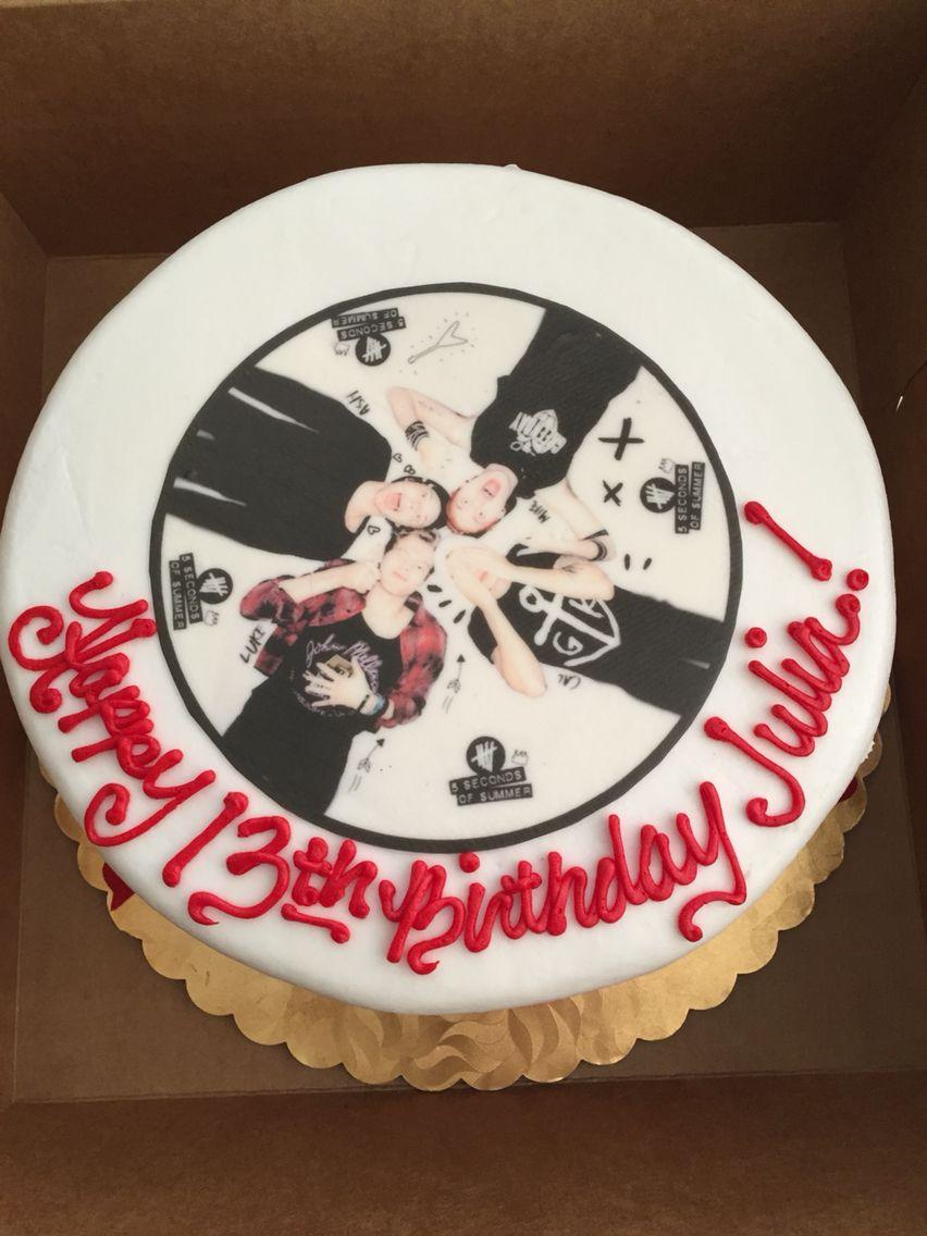 5 Seconds Of Summer Birthday Cake 5sos 5secondsofsummer