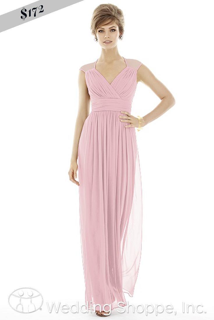 Sheer cap sleeve bridesmaid dress that will show off you feminine ...