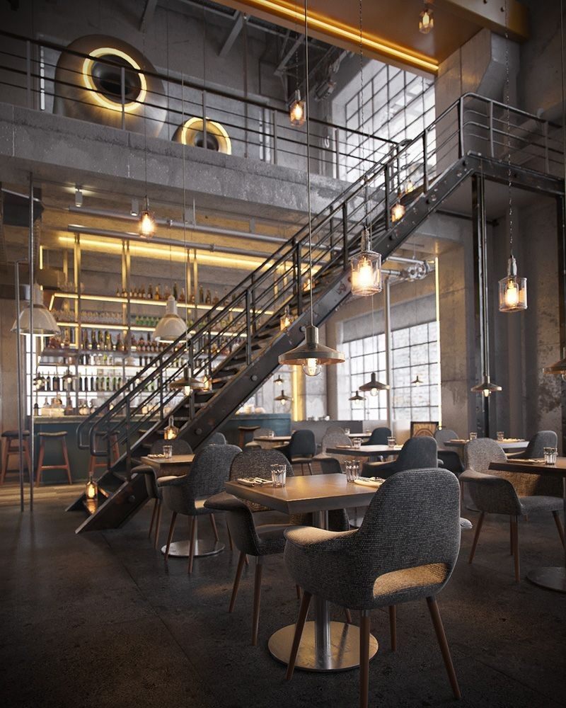 The Best Vintage Industrial Bar And Restaurant Design Ideas – Bar Stools Furniture #vintageindustrialfurniture