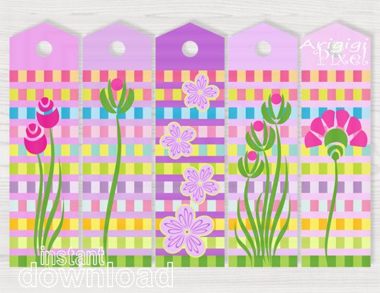Printable bookmarks download spring flower graphics easter printable bookmarks download spring flower graphics easter bookmarkers pink purple gift tags diy reminder negle
