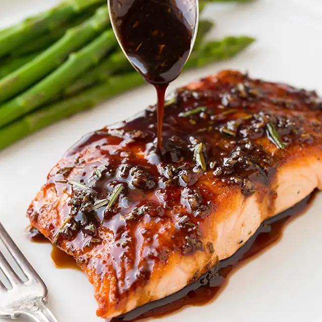 Balsamic Glazed Salmon Recipe | Yummly
