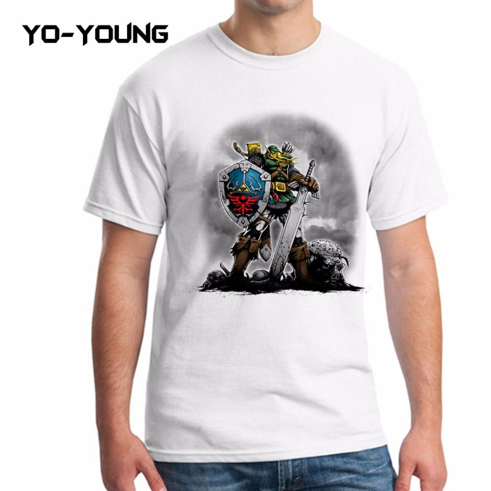 Design t shirts uber - Yo Young Men T Shirts The Legend Of Zelda Uber Link Design T Shirts