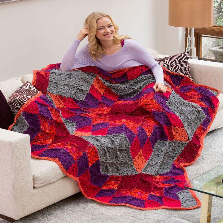 Httpredheartfree Patternsdesert Star Throw Crochet