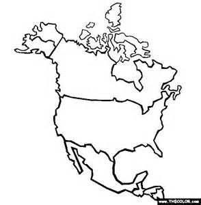North America Coloring Page Free North America Online Coloring