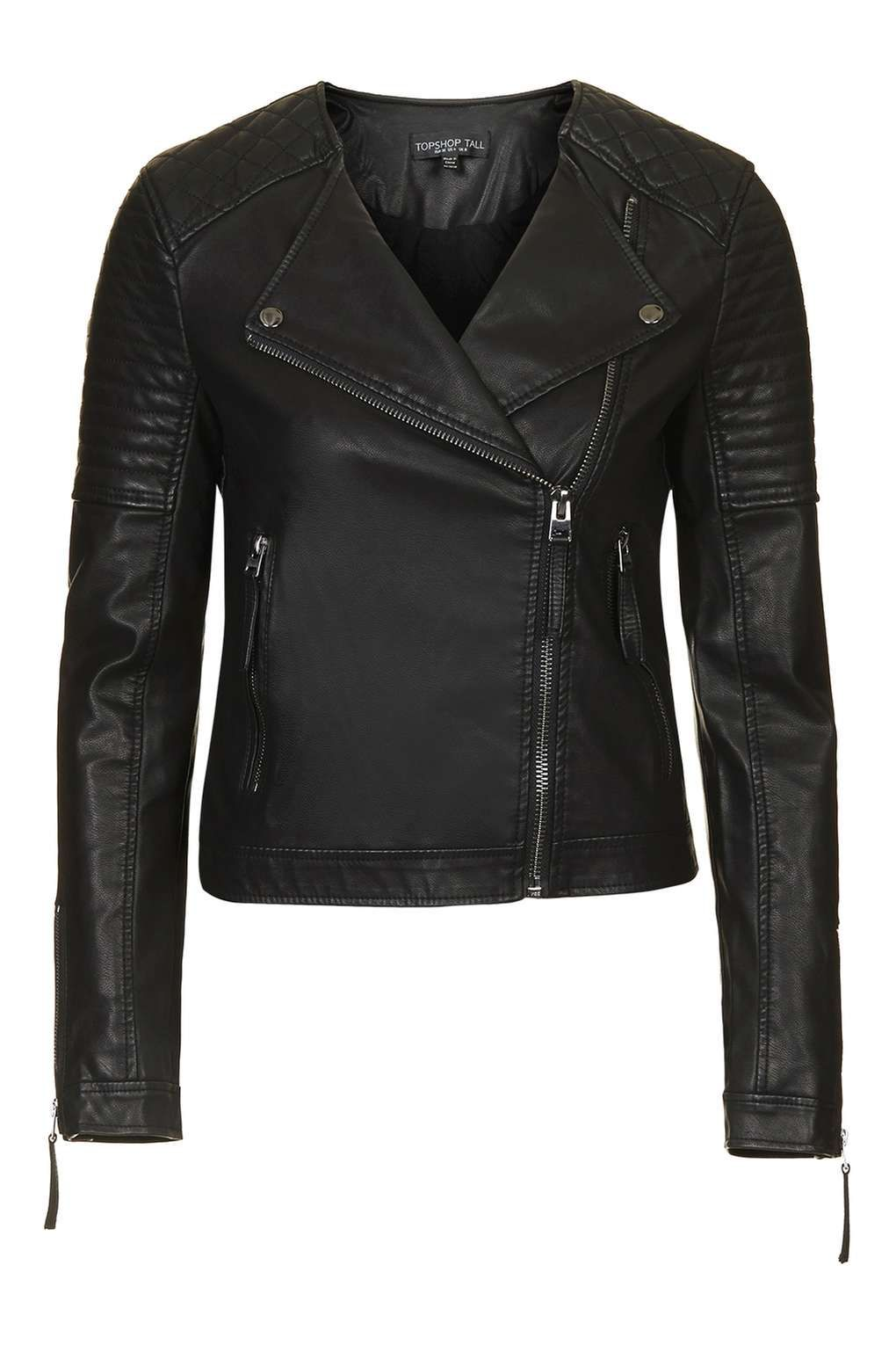 Petite Quilted Faux Leather Biker Jackets Clothing Clothes Vegan Leather Jacket Faux Leather Biker Jacket