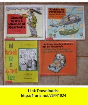 Judi Barrett Set Of 4 Cloudy With A Chance Meat Pickles To Pittsburgh