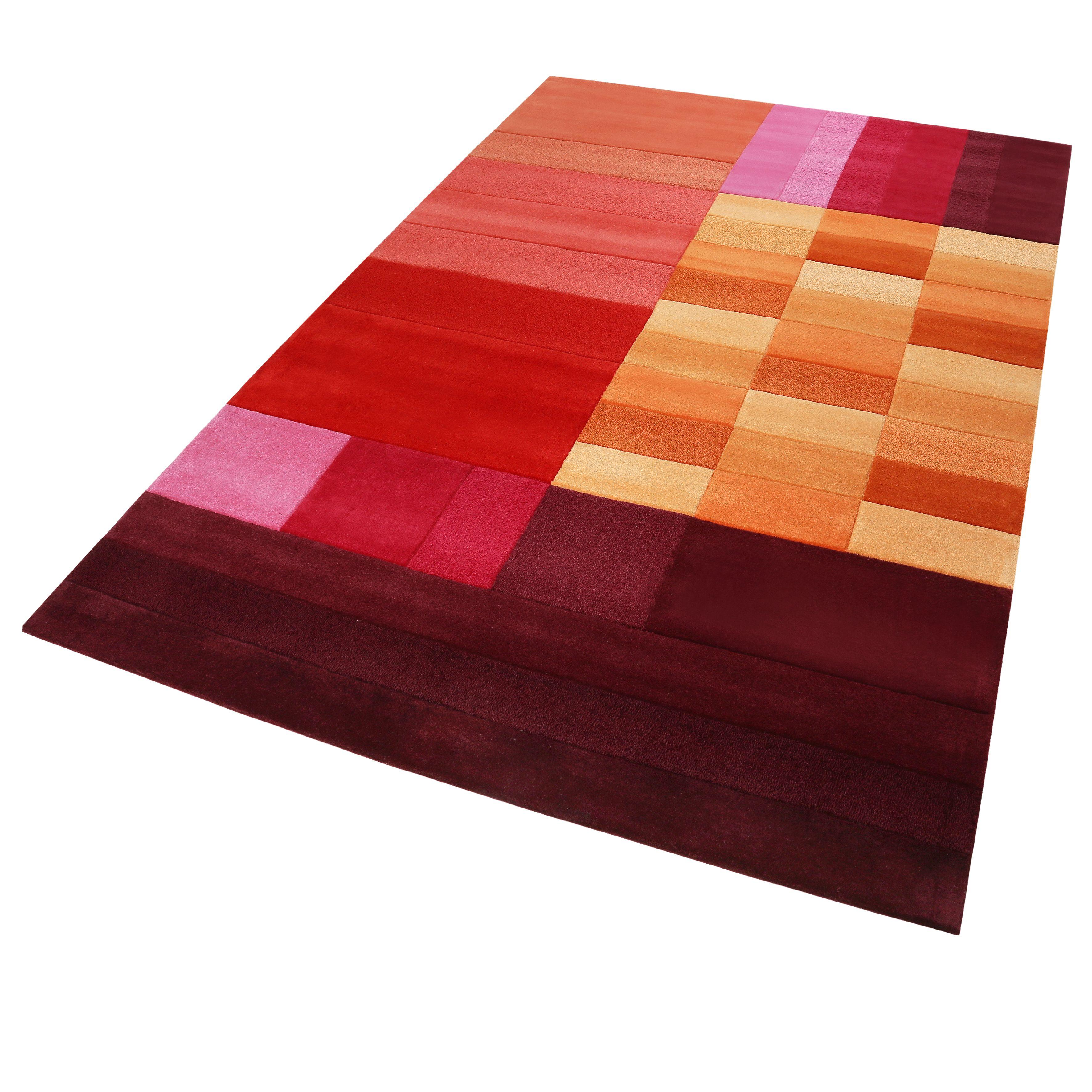 Esprit Kurzflor Teppich Aus Wolle Various Box Rot Orange Terra Pink Kurzflor Teppiche Teppich Teppich Ideen